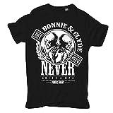 Männer und Herren T-Shirt Bonnie & Clyde GANGSTER (mit Rückendruck)