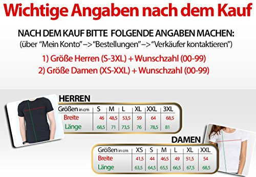"""2 Partner Look Shirts """"KING"""" mit Wunschzahl und """"QUEEN"""" in versch. Farben für Pärchen als Geschenk zum Valentinstag oder Hochzeitstag (Schwarz) -"""