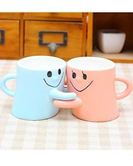 Aidonger Blau-Rosa Gesicht Paare Cup Tassen Becher Set -