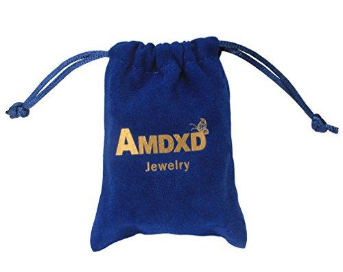 """AMDXD Modeschmuck Paar Armband mit Gravur """"Keep me in your heart"""" Edelstahl Link Armkette Panzerarmbänder - Sie uns Ihn -"""