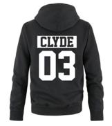 Comedy Shirts - CLYDE 03 - NEGATIV - Herren Hoodie - Schwarz / Weiss Gr. L -