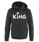 Comedy Shirts - KING - Comic - Herren Hoodie - Schwarz / Weiss Gr. L -