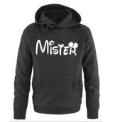 Comedy Shirts - MISTER - Mickey - Herren Hoodie - Schwarz / Weiss Gr. L -