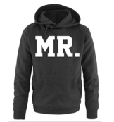 Comedy Shirts - MR. - SUPERSTAR STYLE - Herren Hoodie - Schwarz / Weiss Gr. L -