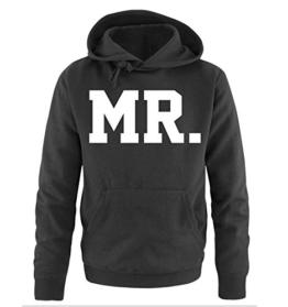 Comedy Shirts - MR. - SUPERSTAR STYLE - Herren Hoodie - Schwarz / Weiss Gr. L -
