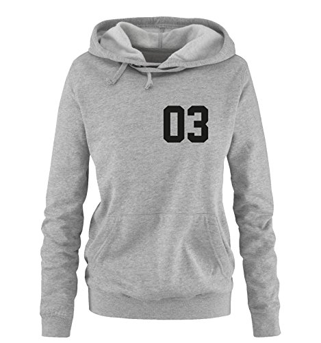 Comedy Shirts - QUEEN 03 - NEGATIV - Damen Hoodie - Grau / Schwarz Gr. S -