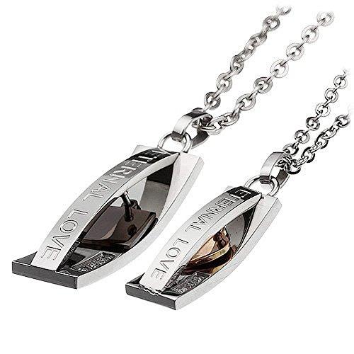 Diaz Fashion 2 Freundschaftsketten Halskette mit Anhänger Farbe: Silber -