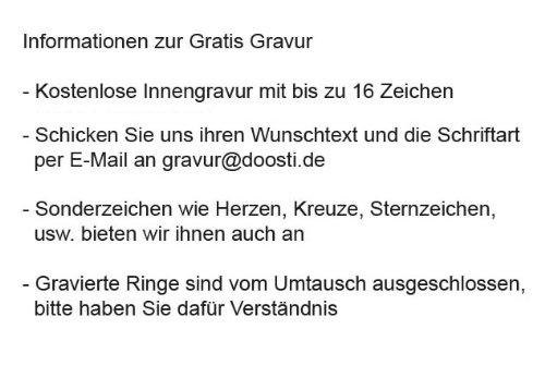 DOOSTI Freundschaftsringe / Partnerringe Bicolor Chirurgischer Edelstahl 316L - inkl. Gratis Gravur -