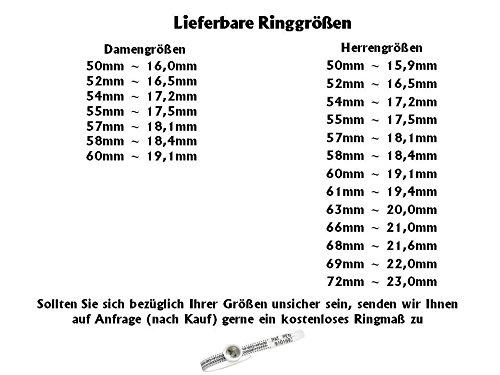 Eheringe Verlobungsringe aus Edelstahl mit Swarowski Zirkonia und Laser Gravur Z111 -
