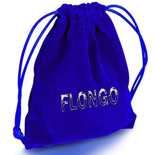 Flongo 2 PCS The World Looks Wonderful When I Am With You Edelstahl Armband Link Handgelenk Silber Schwarz Rose Gold Panzerkette Kette Herren,Damen -