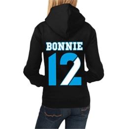 Frauen und Damen Kapuzenpullover Bonnie & Clyde 13 12 (mit Rückendruck) -