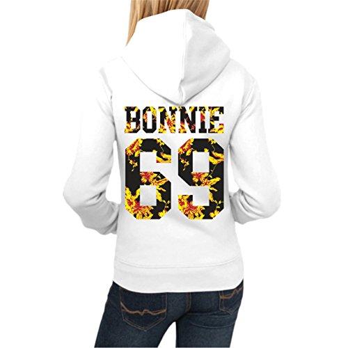 Frauen und Damen Kapuzenpullover Bonnie & Clyde Summer (mit Rückendruck) -