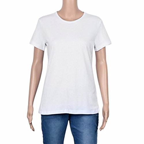 Gaobei T-Shirt f¨¹r Paar Queen P?rchen Frauen in Wei? -