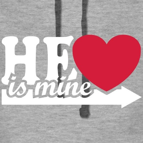 He Is Mine Frauen Premium Kapuzenpullover von Spreadshirt® -