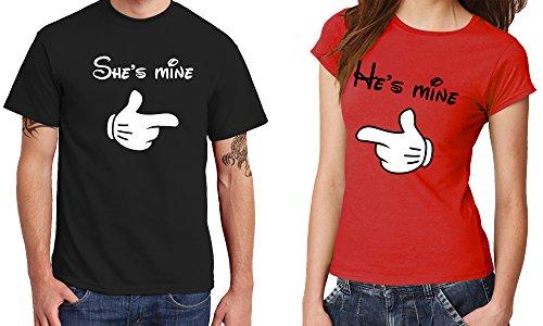 -- He's mine -- Girls Kapuzenpullover Schwarz, Größe M -