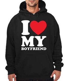 -- I love my boyfriend -- Boys Kapuzenpullover Farbe Navy, Größe M -
