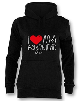 I love my Boyfriend - Damen Hoodie in Größe M -