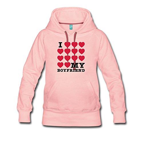 I Love My Boyfriend Frauen Premium Kapuzenpullover von Spreadshirt® -