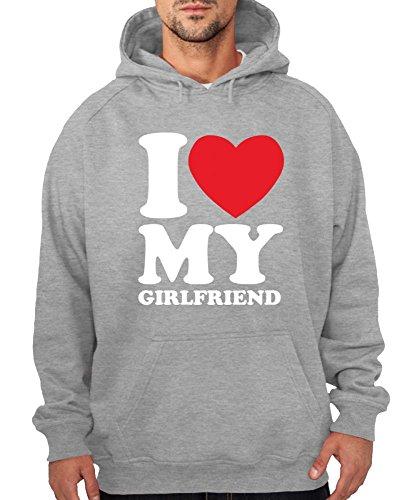 -- I love my girlfriend -- Boys Kapuzenpullover Farbe Schwarz, Größe XL -