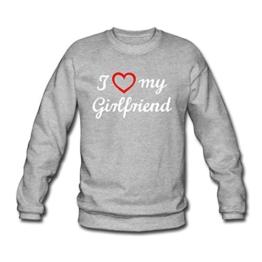 I Love My Girlfriend Männer Pullover von Spreadshirt® -