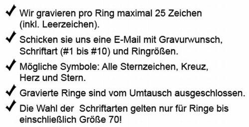 Juwelier Schönschmied- DamenZwei Hochzeitsringe, Verlobungsringe, Partnerringe, Ehering mit Gratis Gravur Edelstahl Zirkonia Nr191HD -