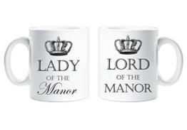 Lord of the Manor und Lady of the Manor-Tasse Lustige Tasse als Geschenk für Paare - 1