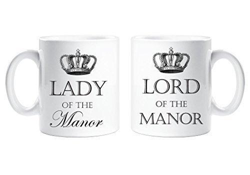 Lord of the Manor und Lady of the Manor-Tasse Lustige Tasse als Geschenk für Paare -