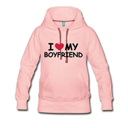 Love Boyfriend Statement Frauen Premium Kapuzenpullover von Spreadshirt® -