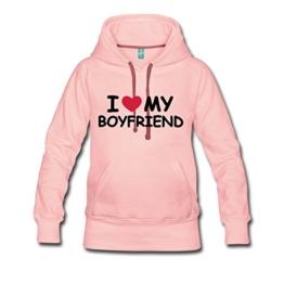 Love Boyfriend Statement Frauen Premium Kapuzenpullover von Spreadshirt® -