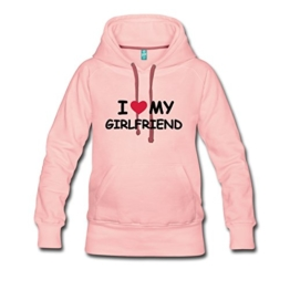 Love Girlfriend Statement Frauen Premium Kapuzenpullover von Spreadshirt® -