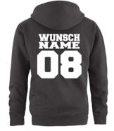 Luckja Wuschnummer & Wunschname Pullover Pärchenhoodie Schwarz-Weiss Grösse M -