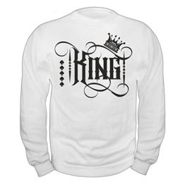 Männer und Herren Pullover KING (mit Rückendruck) -