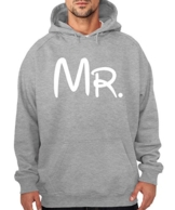 -- Mr. -- Boys Kapuzenpullover Farbe Sports Grey, Größe M -
