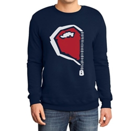 Paarmotiv Herz mit Reißverschluss Süß für Valentinstag Sweatshirt XX-Large Marineblau -