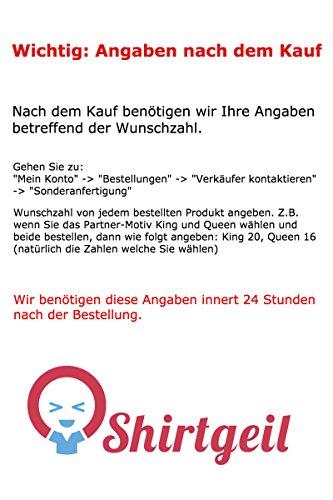 Partner Pärchen Pullover Beauty & Beast Mit WUNSCHNUMMER Kapuzenpullover Hoodie XXX-Large Schwarz -