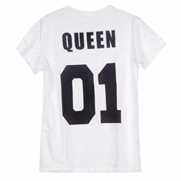 QIYUN.Z Liebhaber KING QUEEN 01 Drucksommer Kurzhülse Paar Geschenk T-Shirts Bluse -