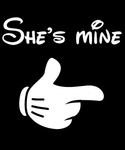 -- She's mine -- Boys Kapuzenpullover Schwarz, Größe M -