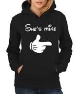 -- She's Mine Girls Only -- Girls Kapuzenpullover Schwarz, Größe S Sale J_J_N -