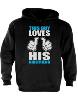 This Guy Loves Girlfriend Paar-Matching Schwarz Small Kapuzenpullover Hoodie -