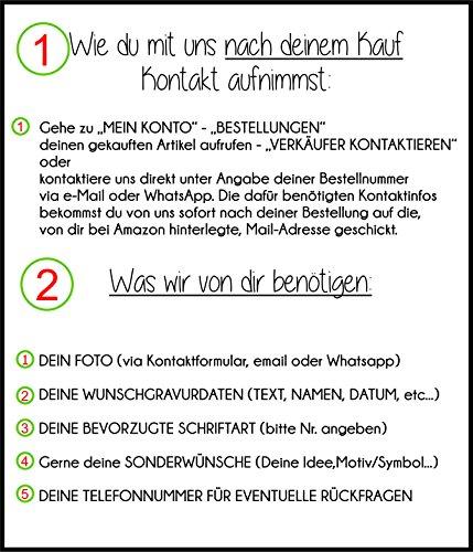 2 Partner - Schlüsselanhänger mit Foto und Wunschgravur | Anhänger mit Wunschtext | individuell und persönlich | 2x Dogtag/Hundemarke ca. 50x28mm | Edelstahl | beidseitig graviert | Geschenk für die Freundin / den Freund | Geschenk für Mama und Papa | Verlobungsgeschenk | Geburtstagsgeschenk | Taufgeschenk | Geschenk zur Geburt -