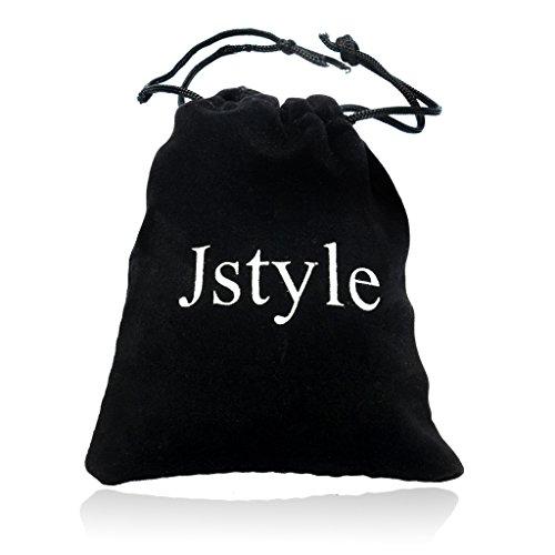 Jstyle Schmuck 2 Halskette Edelstahl Tai Chi Anhänger für beste Freunde Freundschaftsketten mit Metalllegierung Yin und Yang Partner-Anhänger ein Paar Männer Damen -