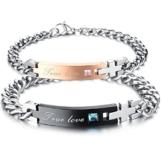 LOSORN ZPY 2 Edelstahl Armbänder Partner Armband Armkette Schmuck -