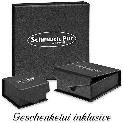 Schmuck-Pur Partner-Ketten mit persönlicher Laser-Gravur Puzzle Freundschaftsanhänger Edelstahl mit Kristall 2 Halsketten 45 / 50 cm -