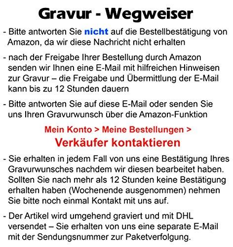 Schmuck-Pur Partner-Ketten mit persönlicher Laser-Gravur Herz-Anhänger rose / schwarz Kristallsteine Edelstahl Partnerschmuck 2 Halsketten 45 / 50 cm -