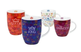 Könitz 11 5 000 0529 Kaffeebecher Royal Family, 4-teilig Set -