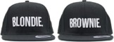 """ASVP Shop Baseball-Kappen mit Stickerei """"Blondie"""" und """"Brownie"""", Hip-Hop-Mütze, Hysteresenverschluss -"""