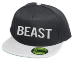 Beast, Snapback Cap, 5 Panel / Blackgrey -