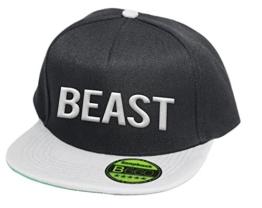 Beast, Snapback Cap, 5 Panel / Blackgrey -