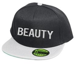 Beauty, Snapback Cap, 5 Panel / Blackgrey -