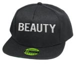 Beauty, Snapback Cap mit Leuchtgarn bestickt, Neon im Dunkeln, 6-Panel, Neuheit! / pureblack -